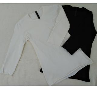 ダブルジェーケー(wjk)のwjk 極美品カットソー袖七分 ホワイト/ブラック2枚セット(Tシャツ/カットソー(七分/長袖))