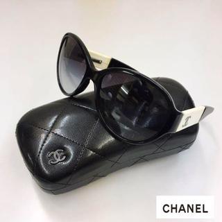 CHANEL - 美品 シャネル サングラス ココマーク/2トーン ケース クロス付き ブラック系