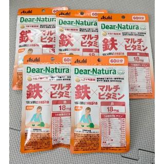アサヒ - ディアナチュラ 鉄×マルチビタミン 5袋 60日分