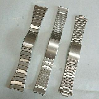 オリエント(ORIENT)のメンズ腕時計 純正ブレス オリエント シチズン 腕時計ベルト 部品取り 3本(金属ベルト)