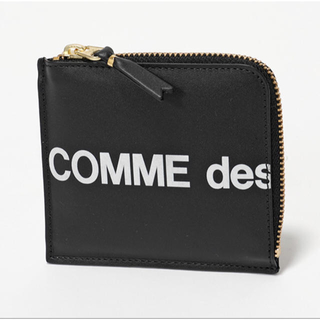 COMME des GARCONS - 新品 コムデギャルソン huge logo 財布 コインケース 黒