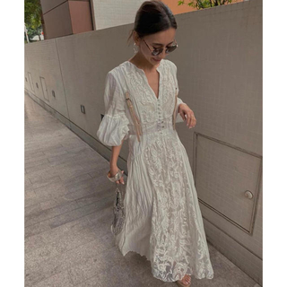 Ameri VINTAGE - MEDI EMBROIDERY TULLE LACE DRESS 新品タグ付き