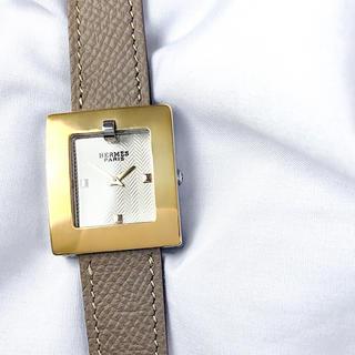 Hermes - 【OH済】エルメス スクエア ベルトウォッチ コンビ レディース 腕時計