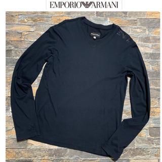 エンポリオアルマーニ(Emporio Armani)のエンポリオ アルマーニ ARMANI/ラインストーン Tシャツ カットソー S(Tシャツ/カットソー(七分/長袖))