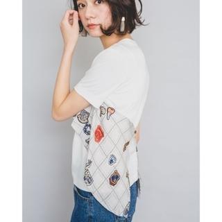 アメリヴィンテージ(Ameri VINTAGE)の新品…doll up oopsドールアップウップス/ビスチェ風レイヤードトップス(カットソー(半袖/袖なし))