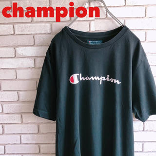 Champion - チャンピオン Tシャツ カットソー XL デカロゴ ビッグロゴ 古着 90s