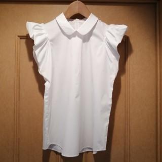 アベニールエトワール(Aveniretoile)のAveniretoile  襟付き フリル シャツ ブラウス(シャツ/ブラウス(半袖/袖なし))