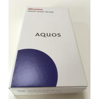 アクオス(AQUOS)のAQUOS sense3 ブラック SH-02M SH-M12 未使用品(スマートフォン本体)