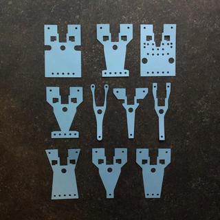 キャッチャーダンパー作成用型紙10種セット(模型/プラモデル)