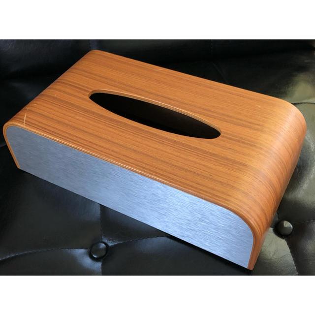 EAMES(イームズ)のSAITO-WOOD/プライウッド/ティッシュ/箱/ケース/ボックス/木製/絶版 インテリア/住まい/日用品のインテリア小物(ティッシュボックス)の商品写真
