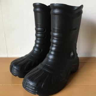 クロックス(crocs)のクロックス レインブーツ 黒 S 6-7(レインブーツ/長靴)