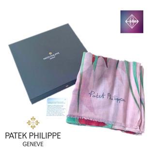 パテックフィリップ(PATEK PHILIPPE)のパテックフィリップ 2019 スカーフ ストール カシミヤ ピンク 花柄(マフラー/ショール)