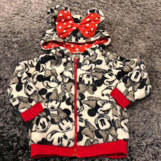ディズニー(Disney)の美品 90センチ ミニー フリースジャケット アウター ディズニー パーカー(ジャケット/上着)