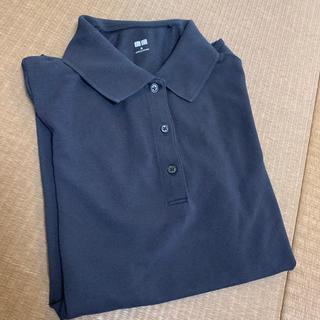 ユニクロ(UNIQLO)のUNIQLO ブラック ポロシャツ(ポロシャツ)