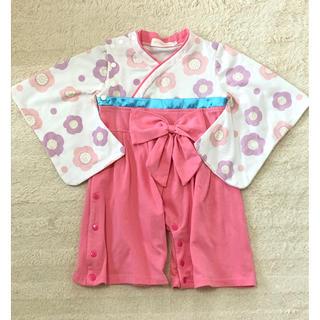 袴ロンパース ピンク 70