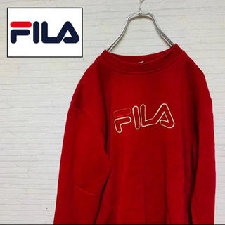 フィラ(FILA)の大人気★FILA スウェット トレーナー★赤色★長袖(スウェット)