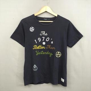 Paul Smith - ポールスミス ジーンズ 半袖 Tシャツ チェーンステッチ スカル ネイビー