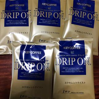 キーコーヒー(KEY COFFEE)のキーコーヒー ドリップオン エクセレントテイスト 5袋(コーヒー)