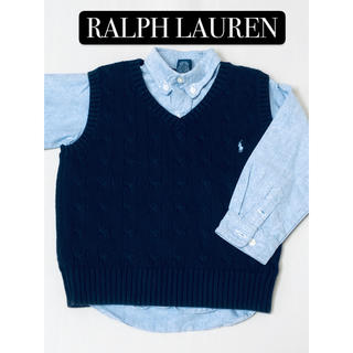 Ralph Lauren - ラルフローレン 長袖シャツ&ニットベスト 2点セット 110 120