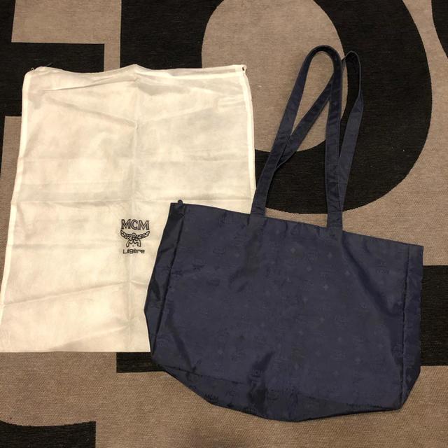MCM(エムシーエム)のMCM エムシーエム ナイロン トートバッグ レア 大きめ レディースのバッグ(トートバッグ)の商品写真