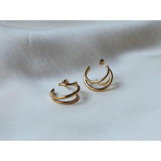 Plage - 𓊆K18金メッキ𓊇3 hoop  pierce