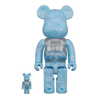 MEDICOM TOY - BE@RBRICK B@BY WATER CREST Ver.100%&400%