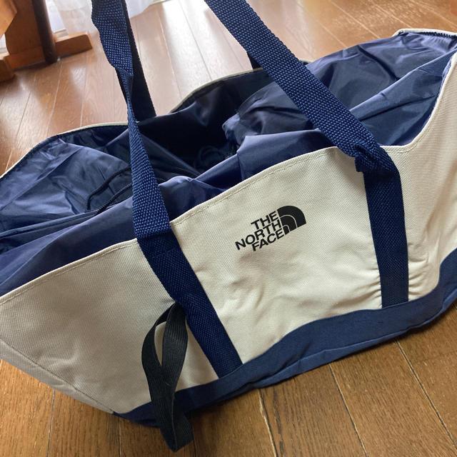 THE NORTH FACE(ザノースフェイス)のハンドメイド リメイク レジカゴバッグ  ノースフェイス 保冷 レディースのバッグ(エコバッグ)の商品写真