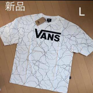 VANS - 新品!VANS 半袖 Tシャツ  白  L ホワイト 稲妻