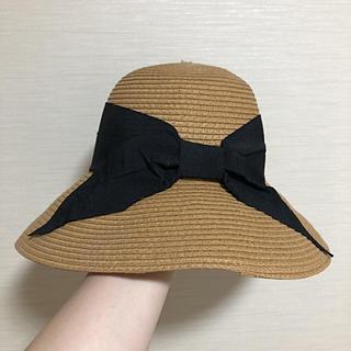 ジーユー(GU)の美品 GU 麦わら帽子 ラフィア帽(麦わら帽子/ストローハット)