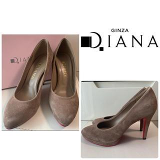 DIANA - ダイアナ グレージュスエード パンプス