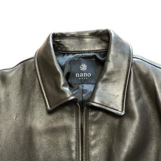 ナノユニバース(nano・universe)のナノ・ユニバース ラムレザージャケット ダークブラウン Mサイズ(レザージャケット)