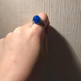 【ハンドメイド】 青めのう リング(リング)
