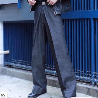 ジョンローレンスサリバン(JOHN LAWRENCE SULLIVAN)のJOHN LAWRENCE SULLIVAN サリバン デニム ワイドパンツ(デニム/ジーンズ)