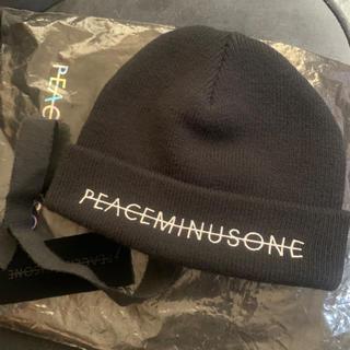 PEACEMINUSONE - peaceminusone ニット キャップ 黒 出品予告