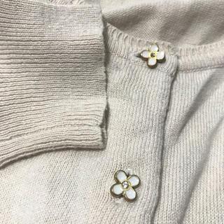 ピンクアドべ(PINK ADOBE)のお花ボタンのカーディガン♡(カーディガン)