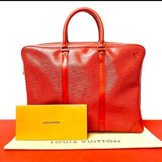 ルイヴィトン(LOUIS VUITTON)の美品 レア ヴィトン ルイヴィトン エピ ビジネスバッグ ハンドバッグ 赤(ビジネスバッグ)
