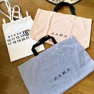 ザラ(ZARA)のZARA ショッピングバッグ Blue(エコバッグ)