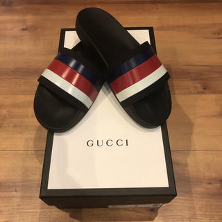 Gucci - 【新品未使用】GUCCHIグッチ ウェブスライドサンダル シャワー トリコロール