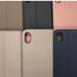 本革手帳型スマホケース(iPhone X対応)(折り財布)