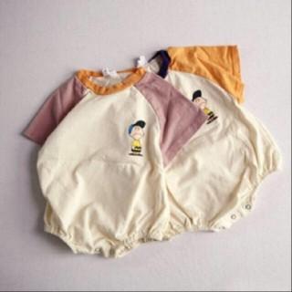 H&M - 新品 チャーリーブラウン 半袖 ロンパース