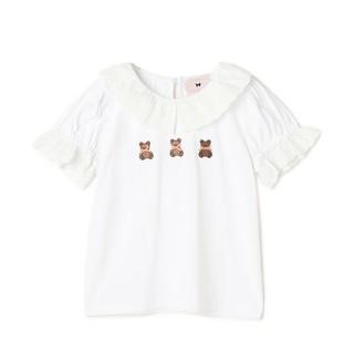ロディスポット(LODISPOTTO)の新品未使用タグ付き。ロディスポットミルフィーユクローゼットくまちゃんTシャツ→白(Tシャツ/カットソー(半袖/袖なし))