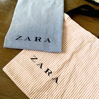 ザラ(ZARA)のZARA ショッピングバッグ ピンク(エコバッグ)