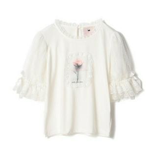 ロディスポット(LODISPOTTO)の本日限定新品タグ付きロディスポットミルフィーユクローゼットバラフリルTシャツ→白(Tシャツ/カットソー(半袖/袖なし))