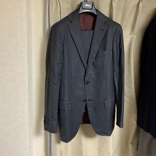 美品 バーニーズ別注 Belvest ベルベスト スーツ 46 グレー(セットアップ)