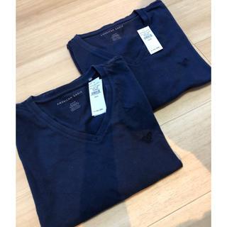 ブラックレーベルクレストブリッジ(BLACK LABEL CRESTBRIDGE)の新品★アメリカンイーグル★Vネック◉レジェンドTシャツ◉3枚セット★無地Tシャツ(Tシャツ/カットソー(半袖/袖なし))