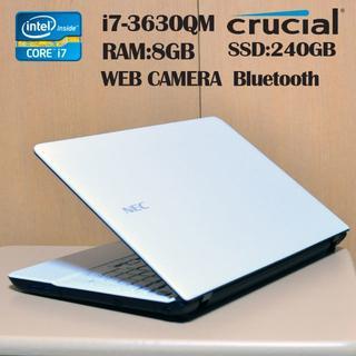 高速マシン/ WEBカメラ / SSD /i7-3630QM /RAM 8GB(ノートPC)