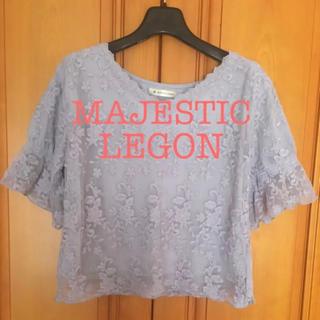 マジェスティックレゴン(MAJESTIC LEGON)のレーストップス(シャツ/ブラウス(半袖/袖なし))