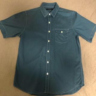 RAGEBLUE - レイジブルー ダークグリーンのメンズ半袖カラーシャツ
