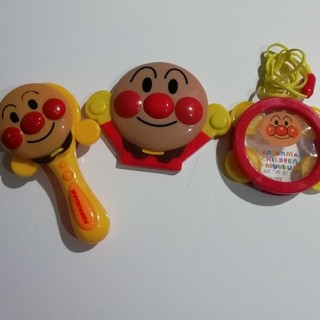 アンパンマン(アンパンマン)のアンパンマン まとめ売り タンバリン 曲がなるおもちゃ カスタネット(楽器のおもちゃ)
