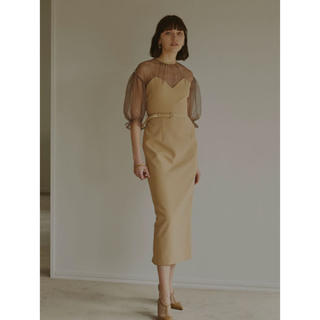 Ameri VINTAGE - アメリヴィンテージ AIRY SLEEVE TIGHT DRESS